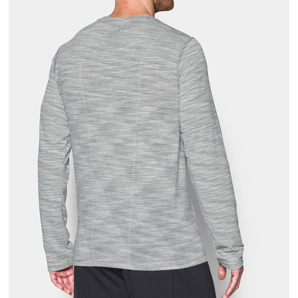 Under Armour Men's White Threadborne Seamless Long Sleeve