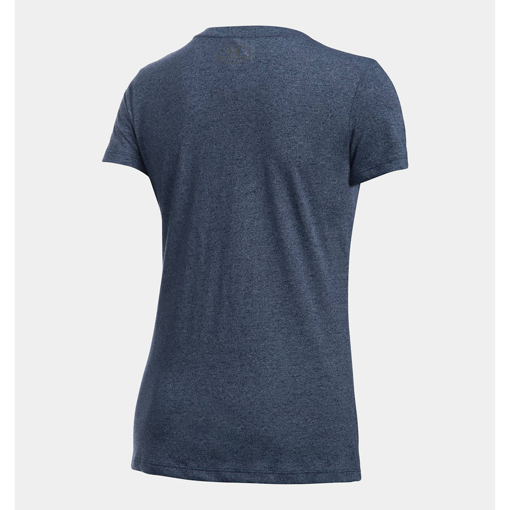 Under Armour Women's Navy Threadborne Twist T-Shirt