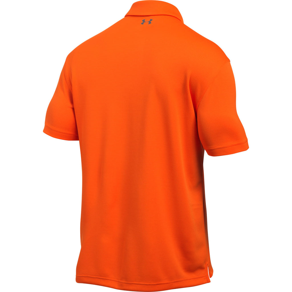Under Armour Men's Team Orange/Graphite Tech Polo