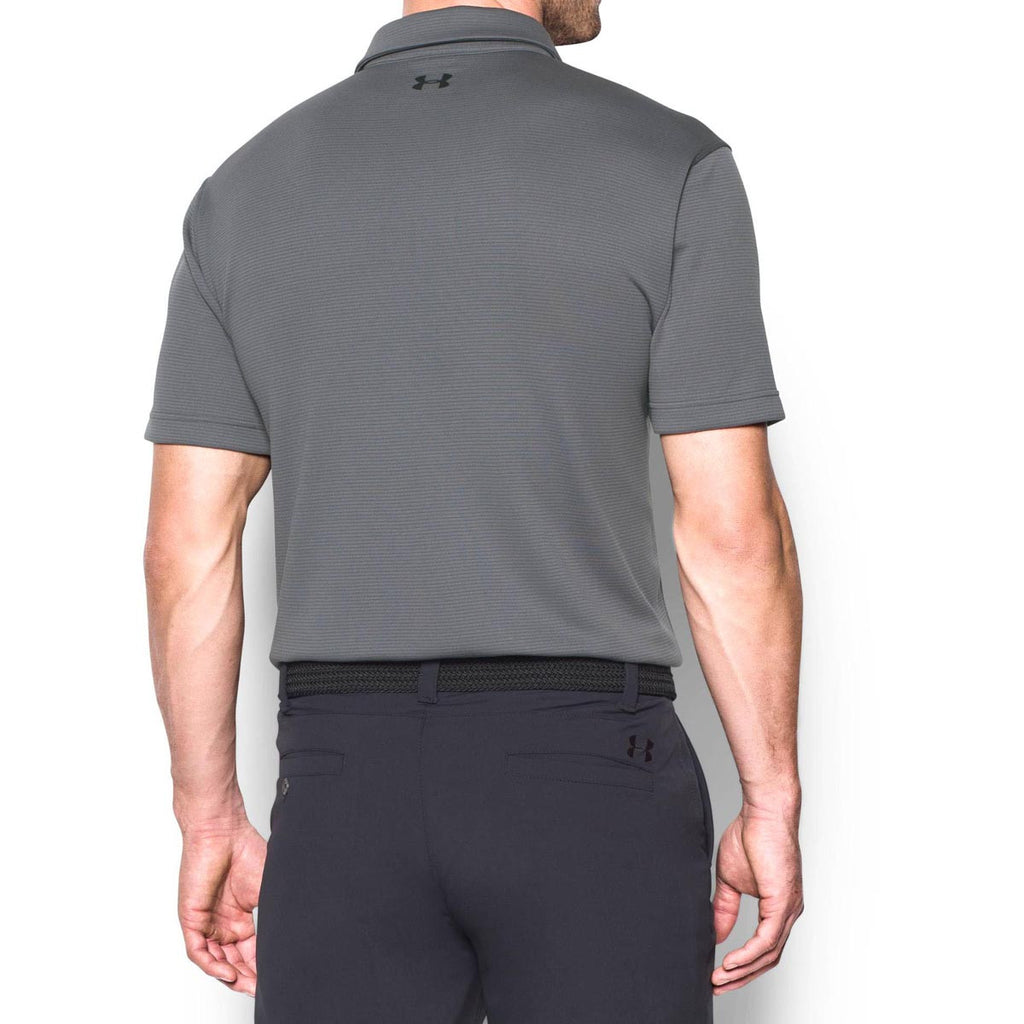 Under Armour Men's Graphite/Black Tech Polo