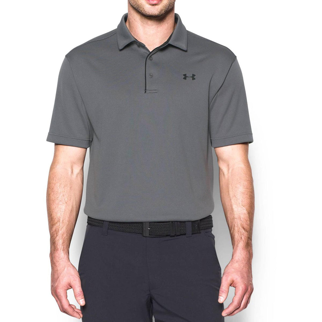 Under Armour Men's Graphite/Black/Black Tech Polo