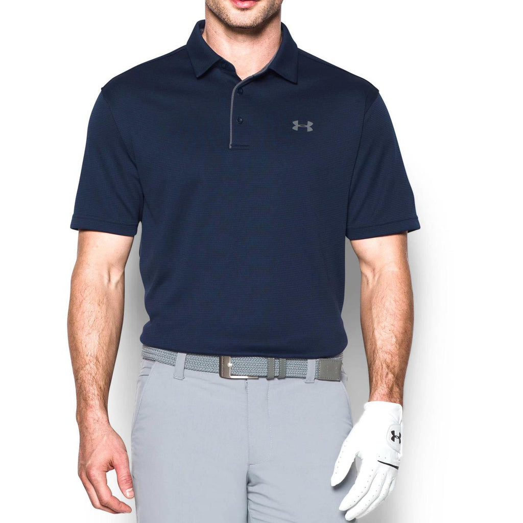 Under Armour Men's Midnight Navy/Graphite/Graphite Tech Polo