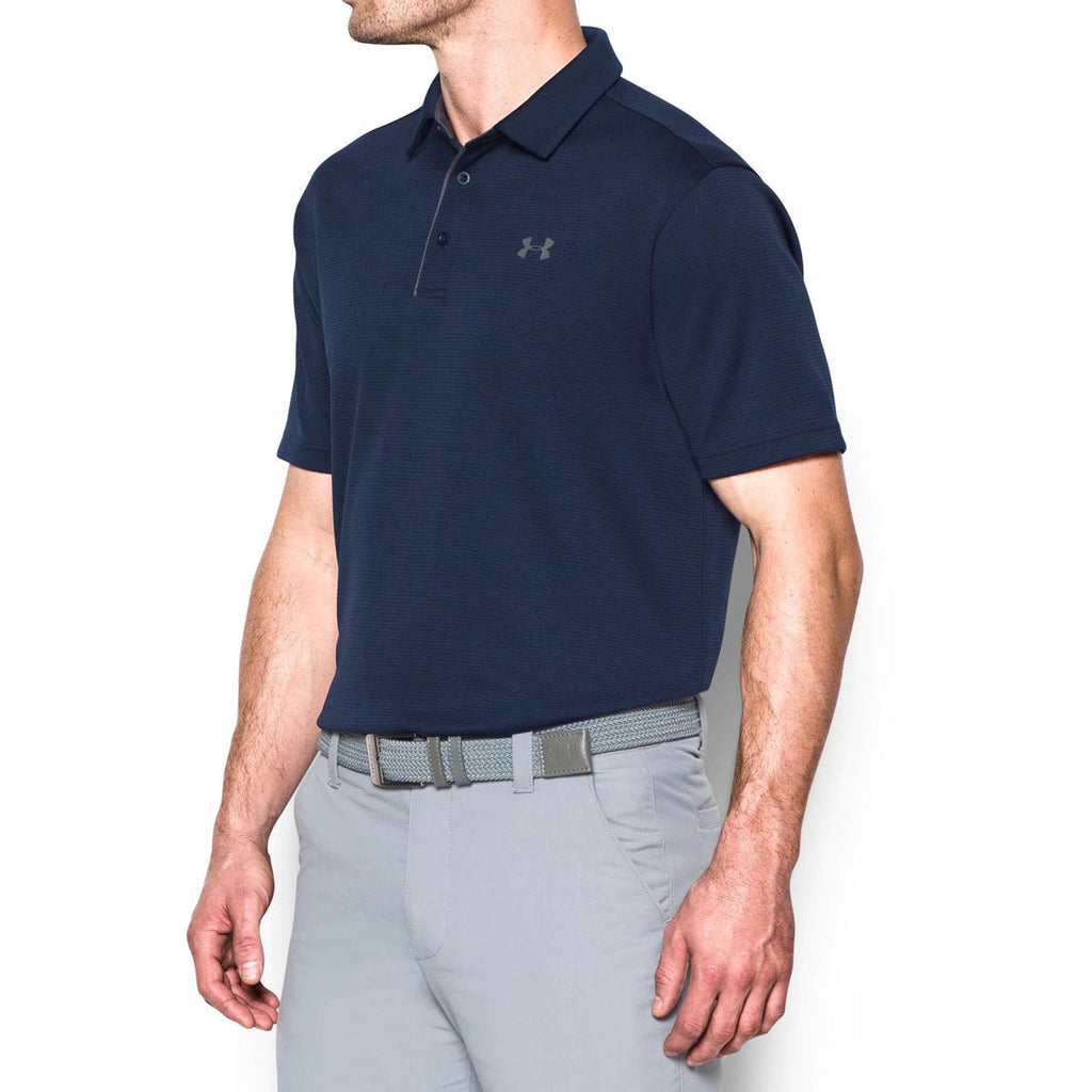 Under Armour Men's Midnight Navy/Graphite Tech Polo