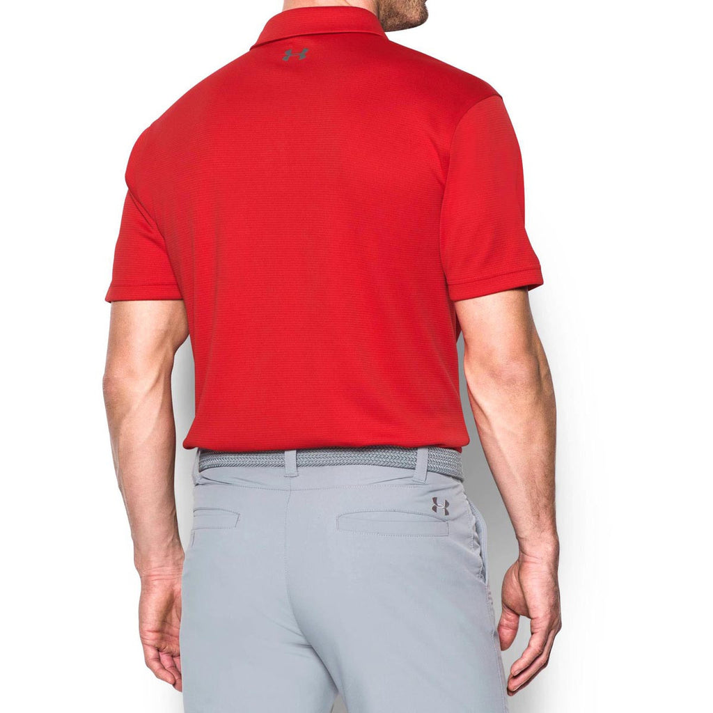 Under Armour Men's Red/Graphite/Graphite Tech Polo
