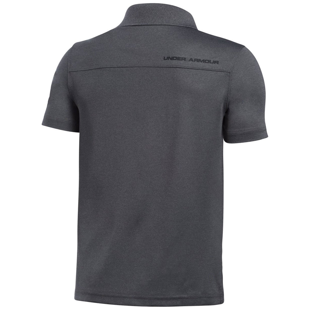 Under Armour Youth Carbon Heather/Black Performance Polo