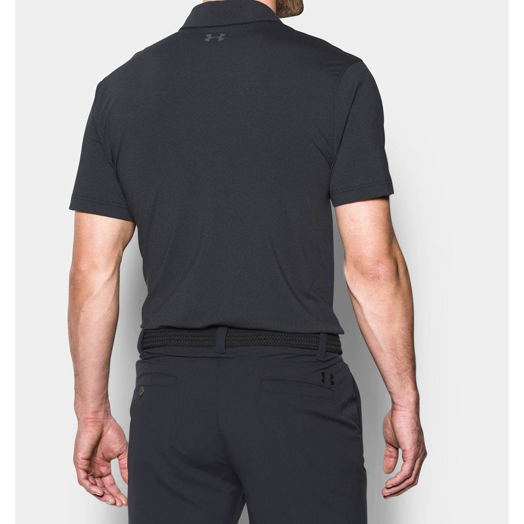 Under Armour Men's Black Playoff Polo Vented
