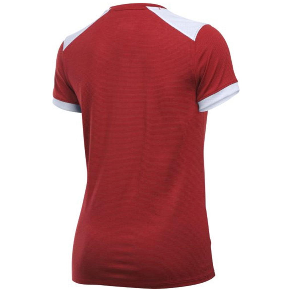 Under Armour Women's Red Threadborne Match Jersey