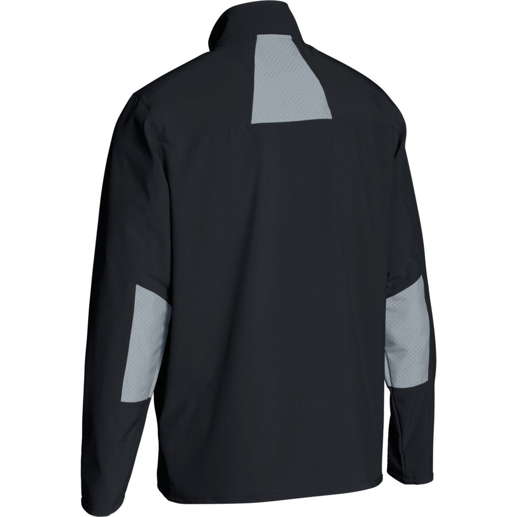 Under Armour Men's Black/Steel Squad Woven Warm-Up Jacket