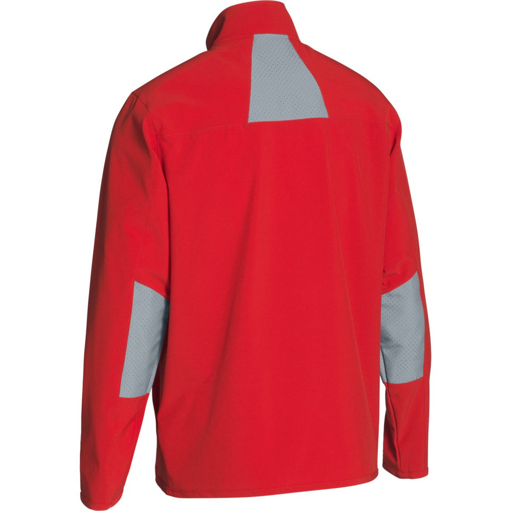 Under Armour Men's Red/Steel Squad Woven Warm-Up Jacket