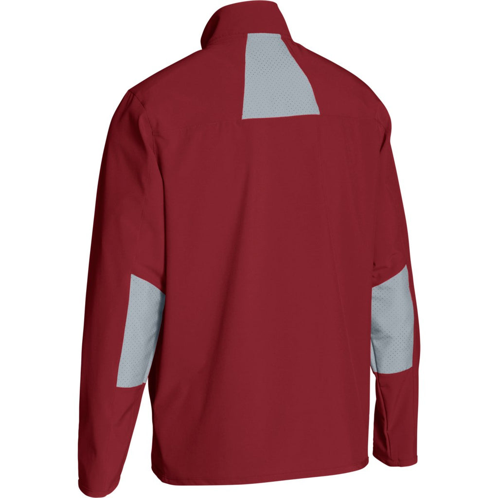Under Armour Men's Cardinal/Steel Squad Woven Warm-Up Jacket
