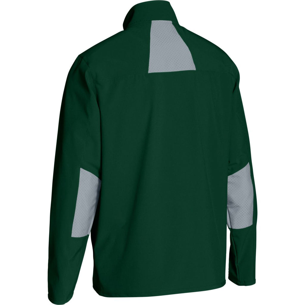 Under Armour Men's Green Squad Woven Warm-Up Jacket