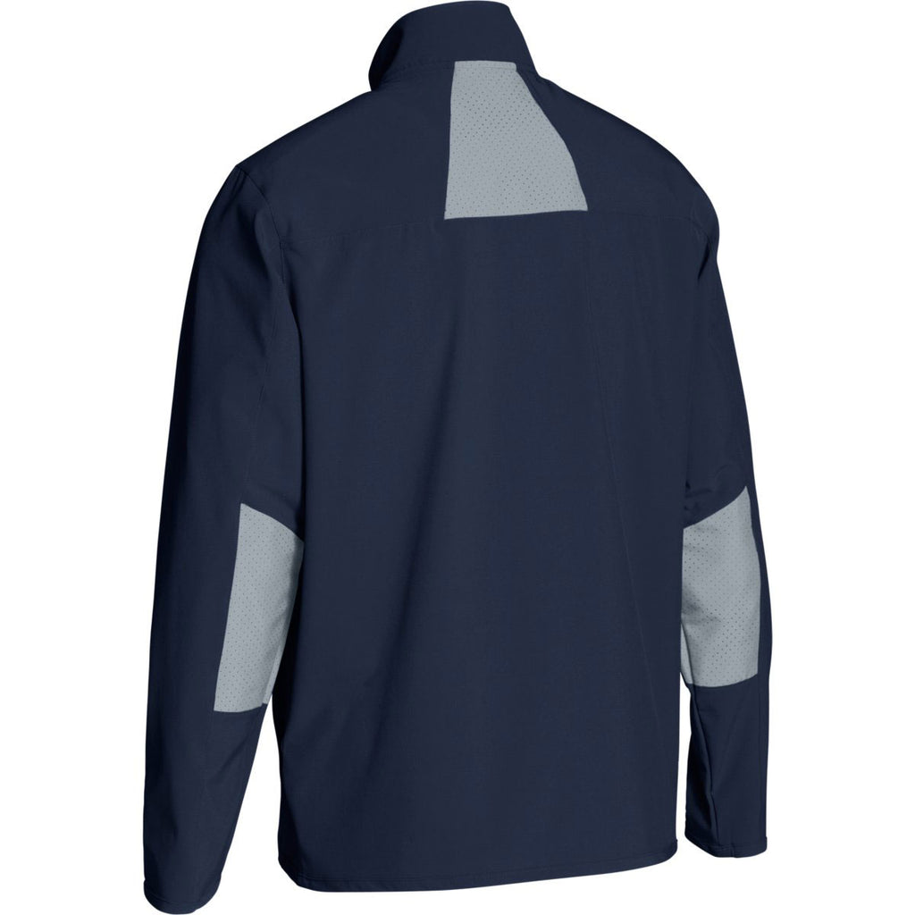 Under Armour Men's Midnight Navy Squad Woven Warm-Up Jacket