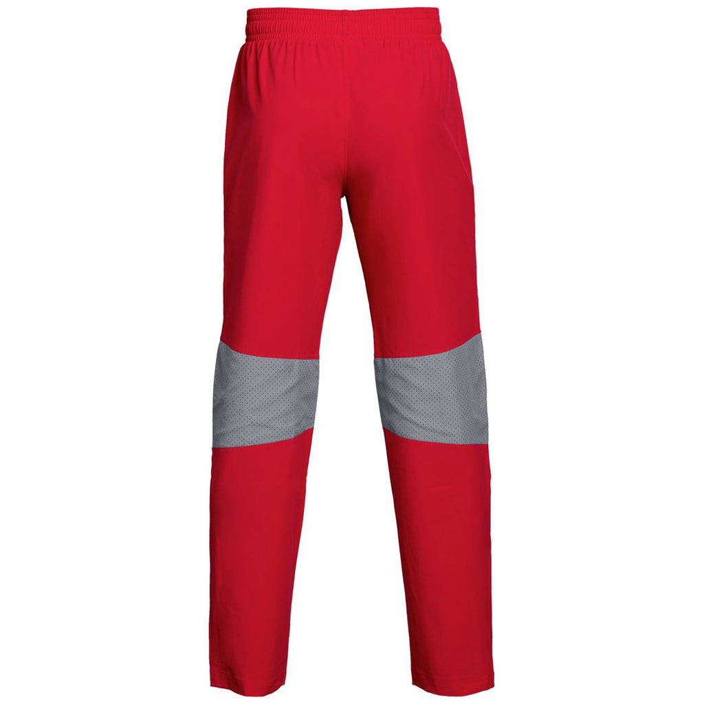 Under Armour Men's Red Squad Woven Warm-Up Pant