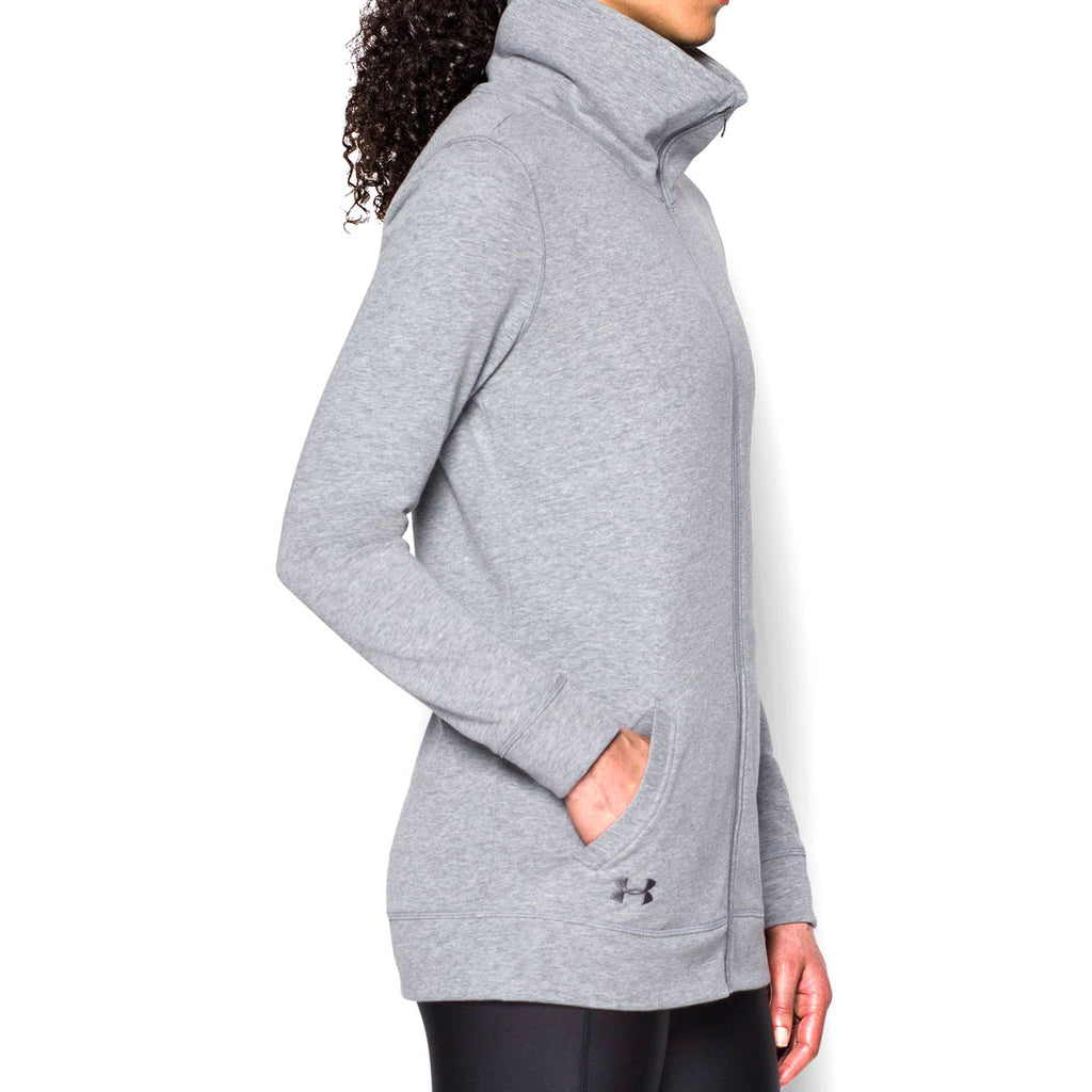 Under Armour Women's True Grey Heather Team Traveler Jacket