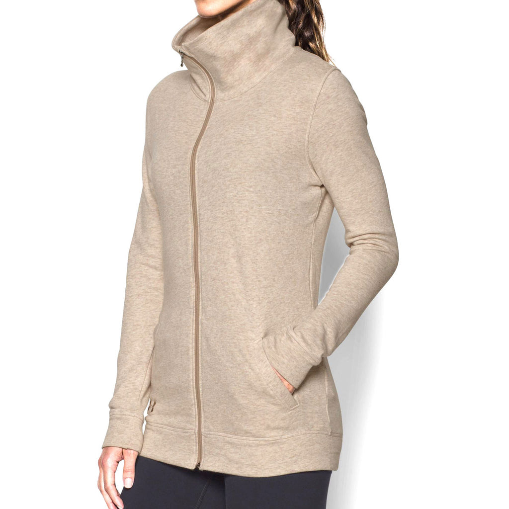Under Armour Women's Oatmeal Heather Team Traveler Jacket