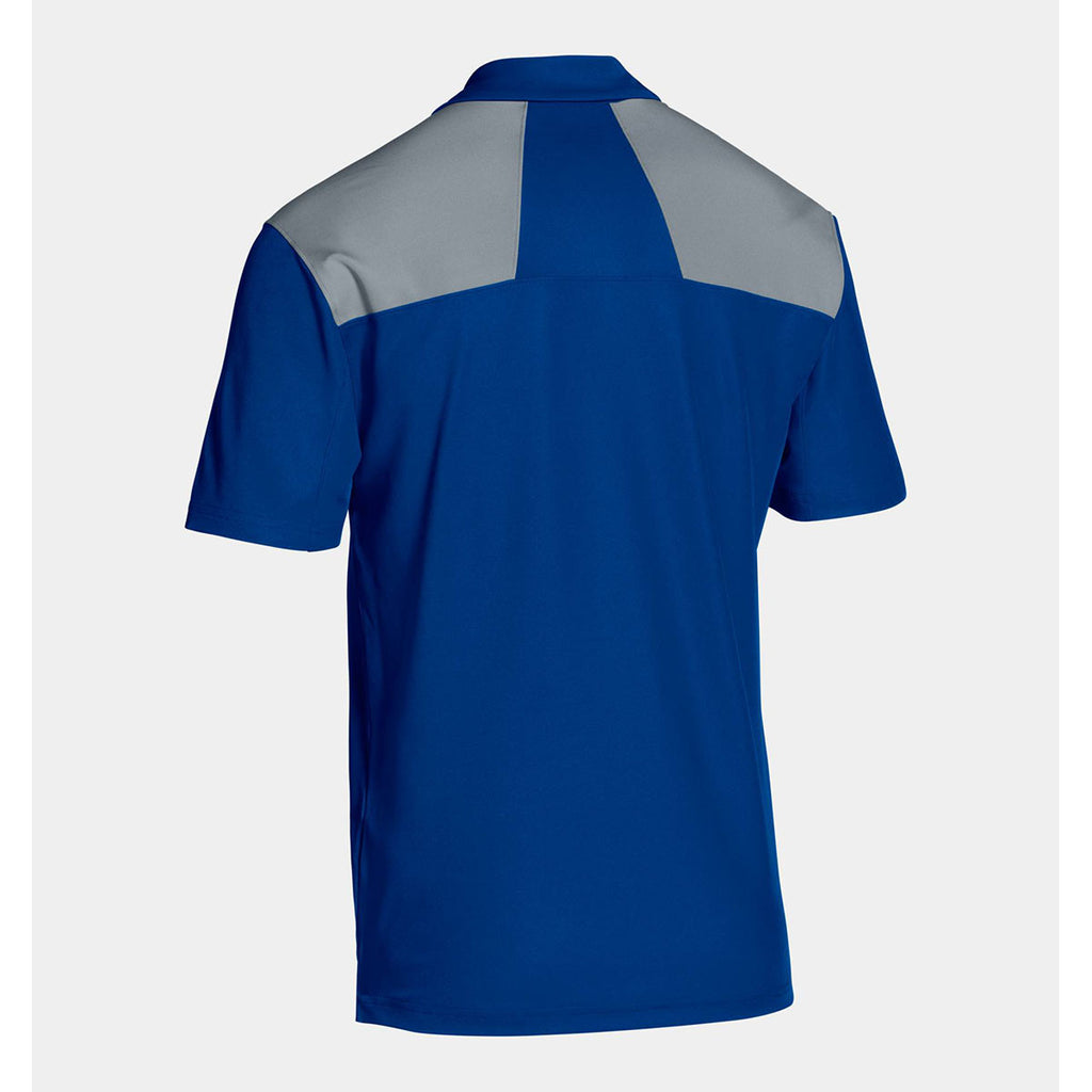 Under Armour Men's Blue Armour Colorblock Polo