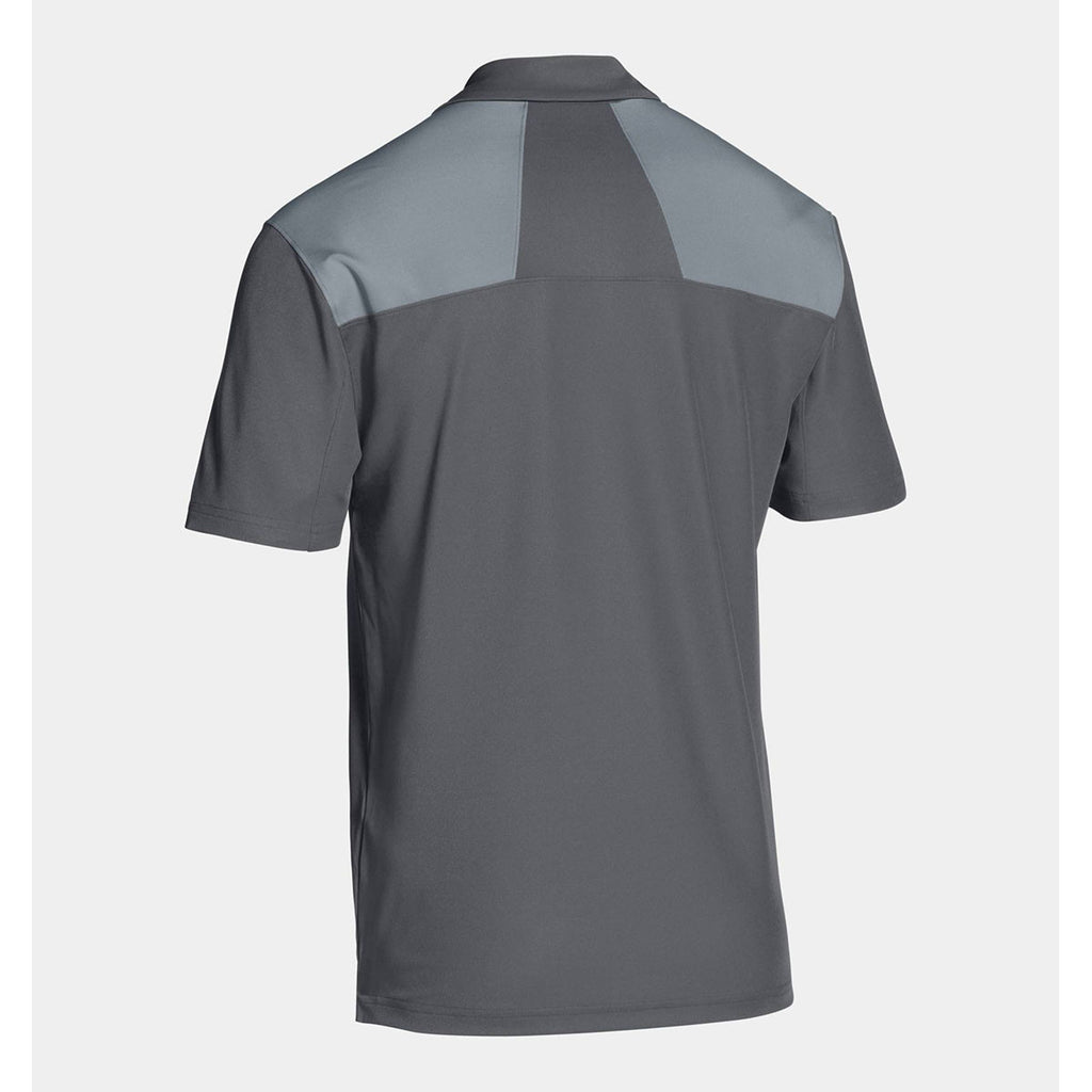 Under Armour Men's Grey Armour Colorblock Polo