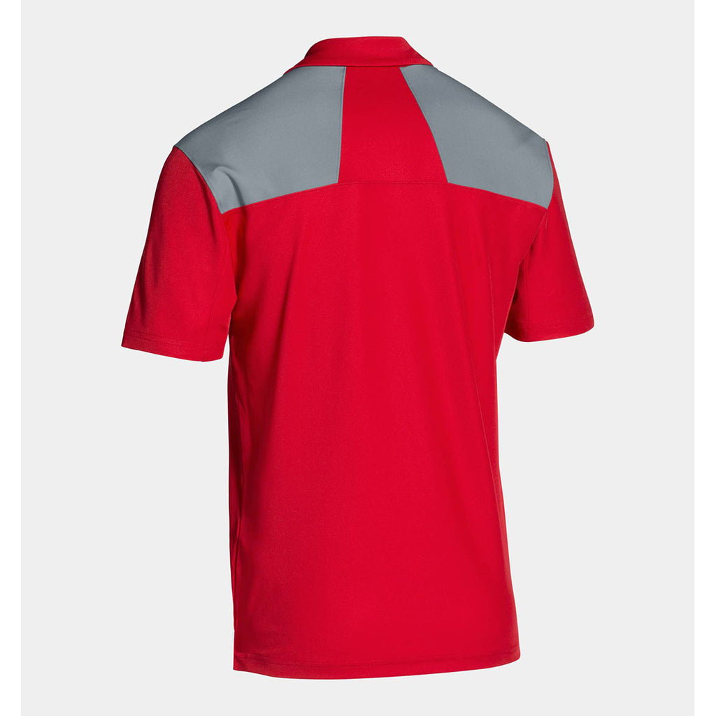 Under Armour Men's Red Armour Colorblock Polo