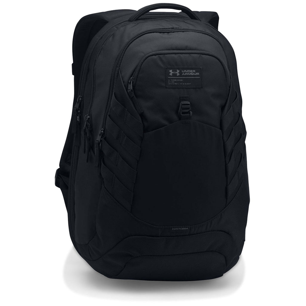 Under Armour Black Hudson Backpack. ADD YOUR LOGO c110642f6a