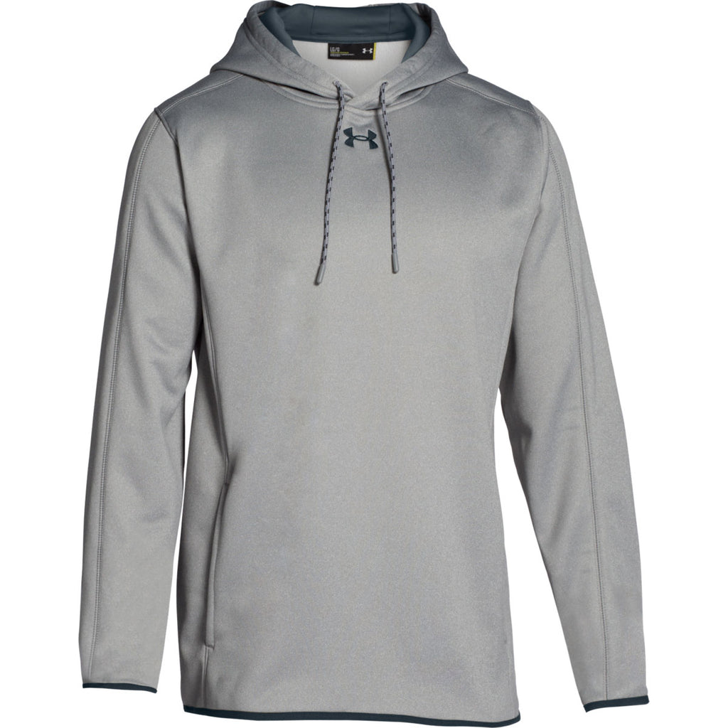 9354e260 Under Armour Men's True Grey Heather Double Threat Hoodie
