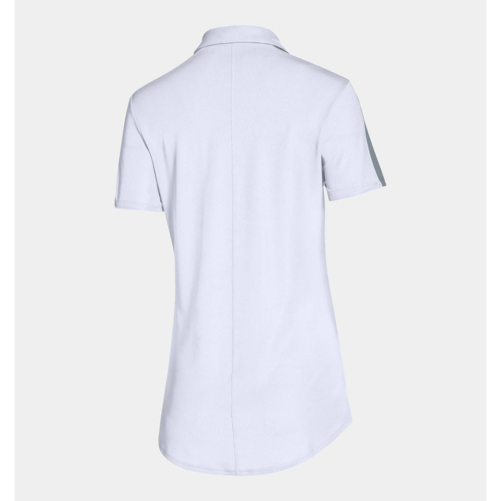 Under Armour Women's White Team Colorblock Polo
