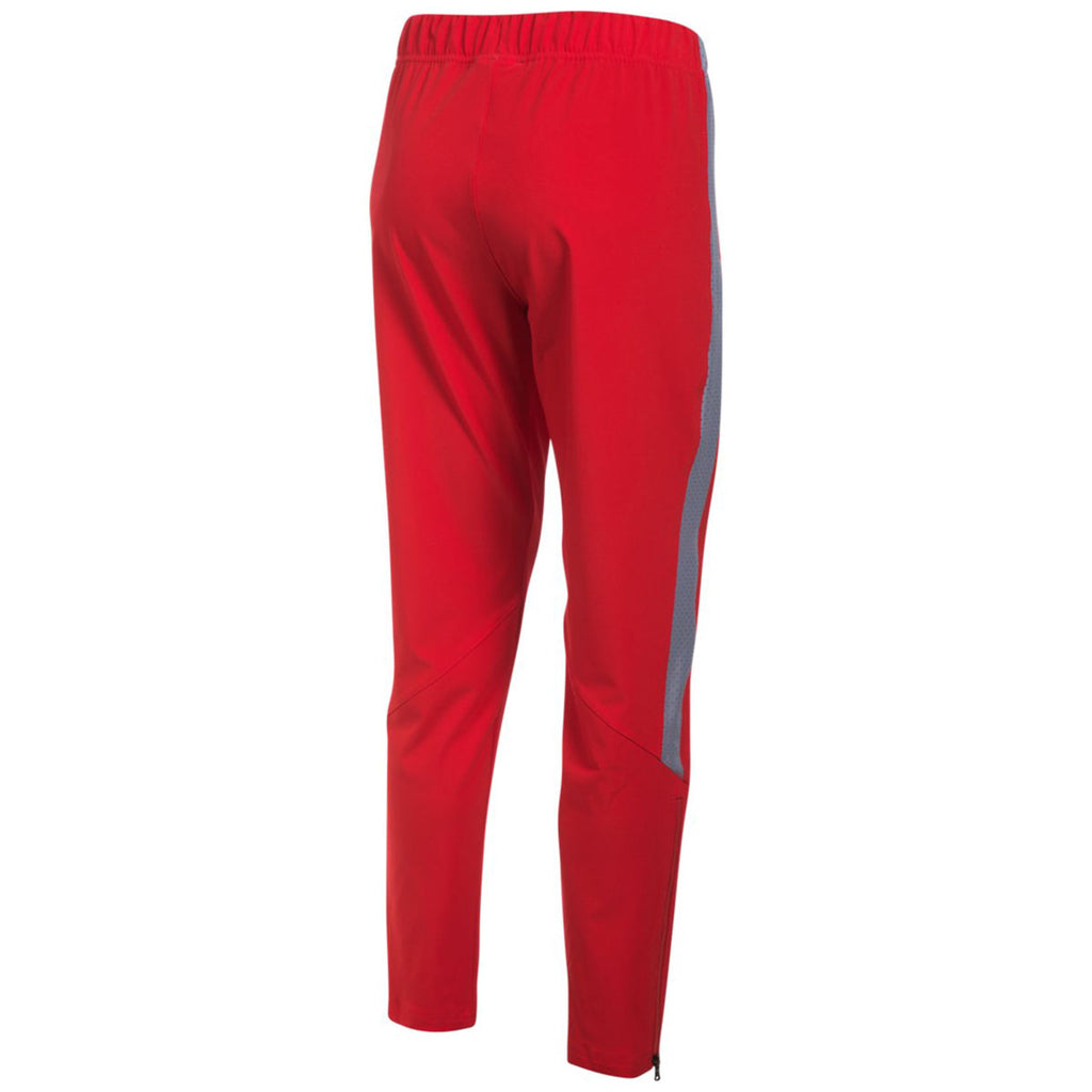 Under Armour Women's Red/Steel Squad Woven Pant