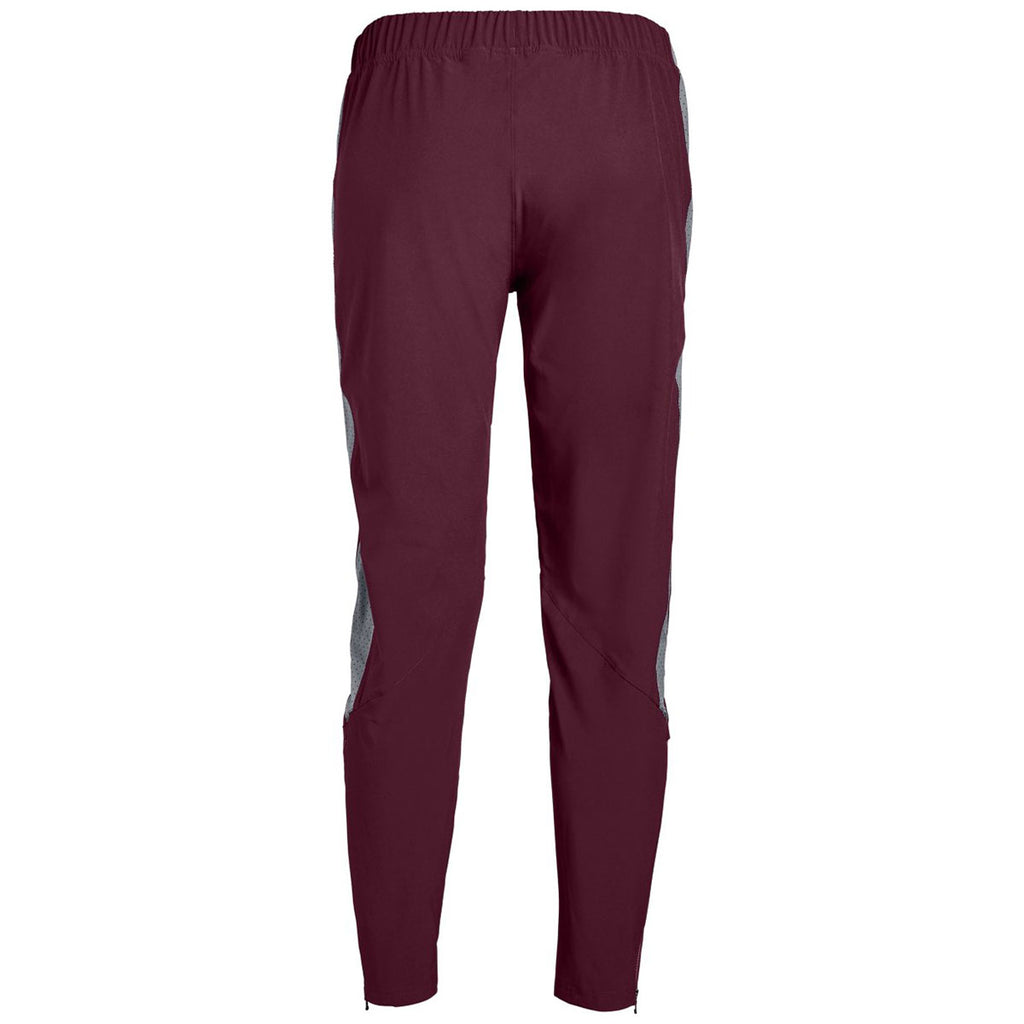 Under Armour Women's Maroon/Steel Squad Woven Pant