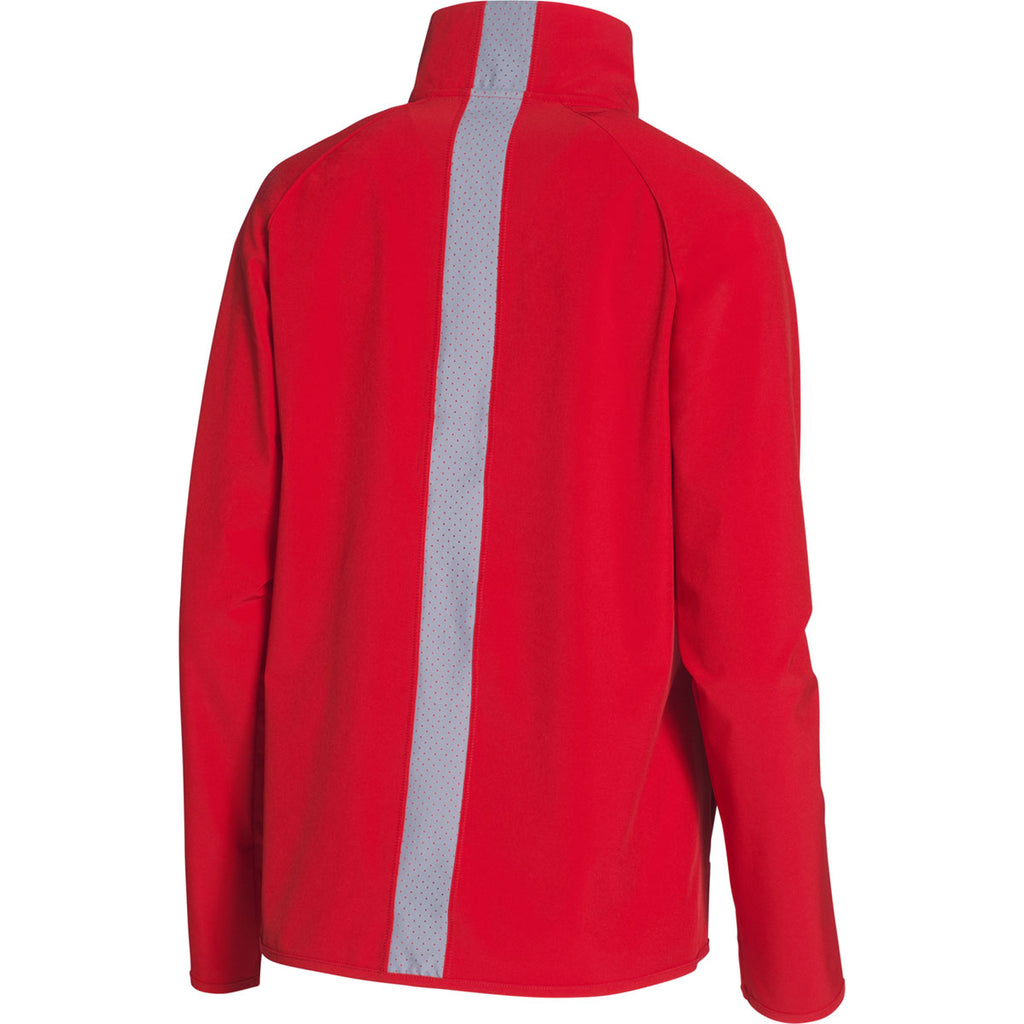 Under Armour Women's Red UA Squad Woven Jacket