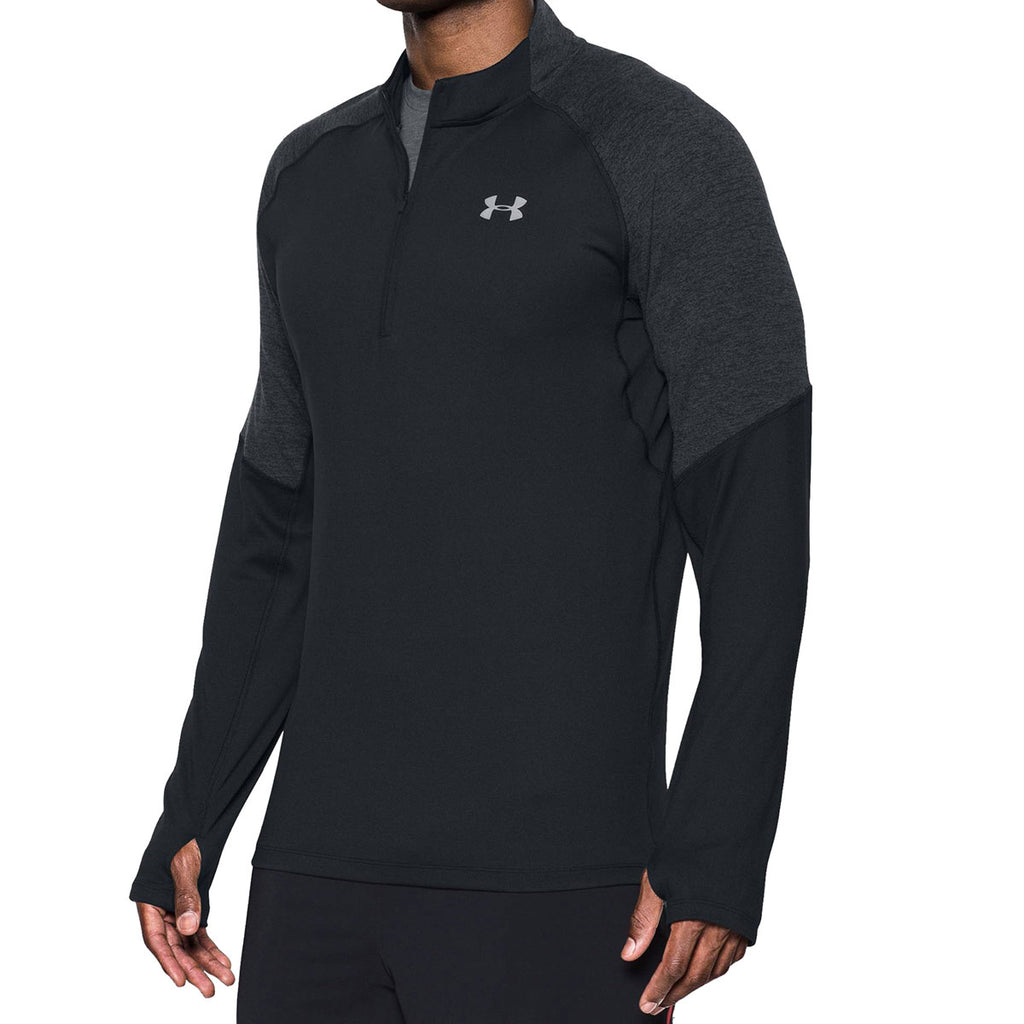 frágil Establecimiento Torneado  Under Armour Men's Black Threadborne Run 1/4 Zip