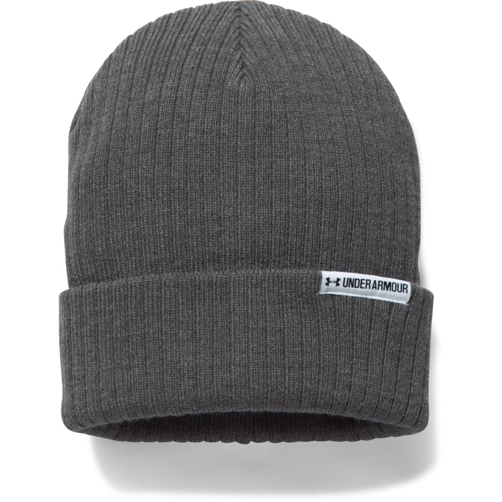 068be4ef2cc Under Armour Women s Carbon Heather White Boyfriend Cuff Beanie. ADD YOUR  LOGO