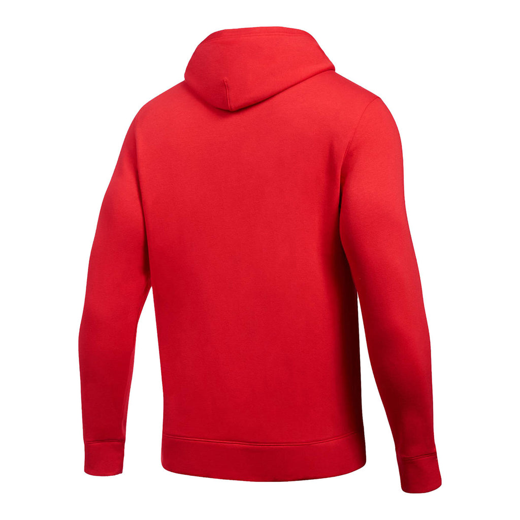 Under Armour Men's Red Hustle Fleece Hoody