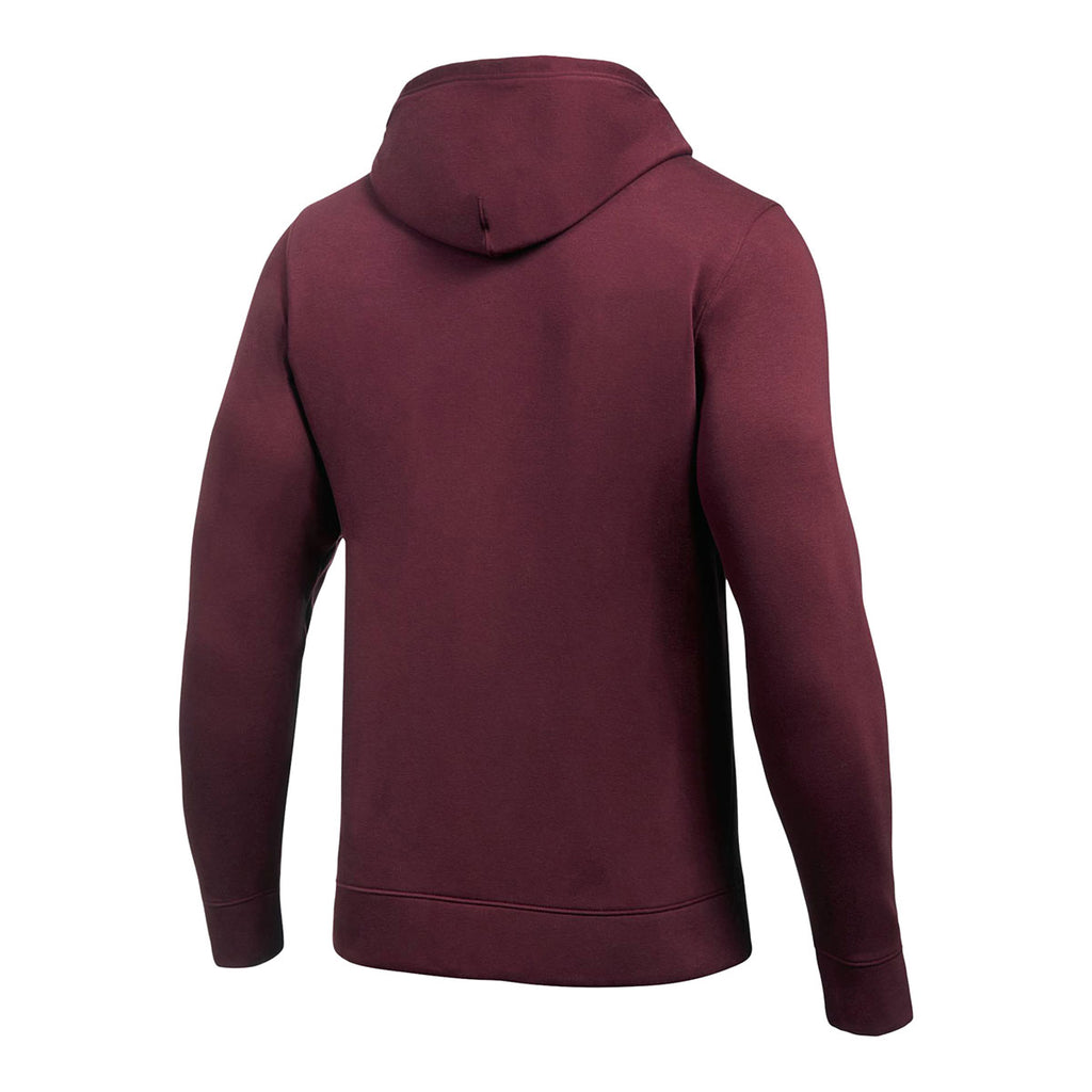 Under Armour Men's Maroon Hustle Fleece Hoody