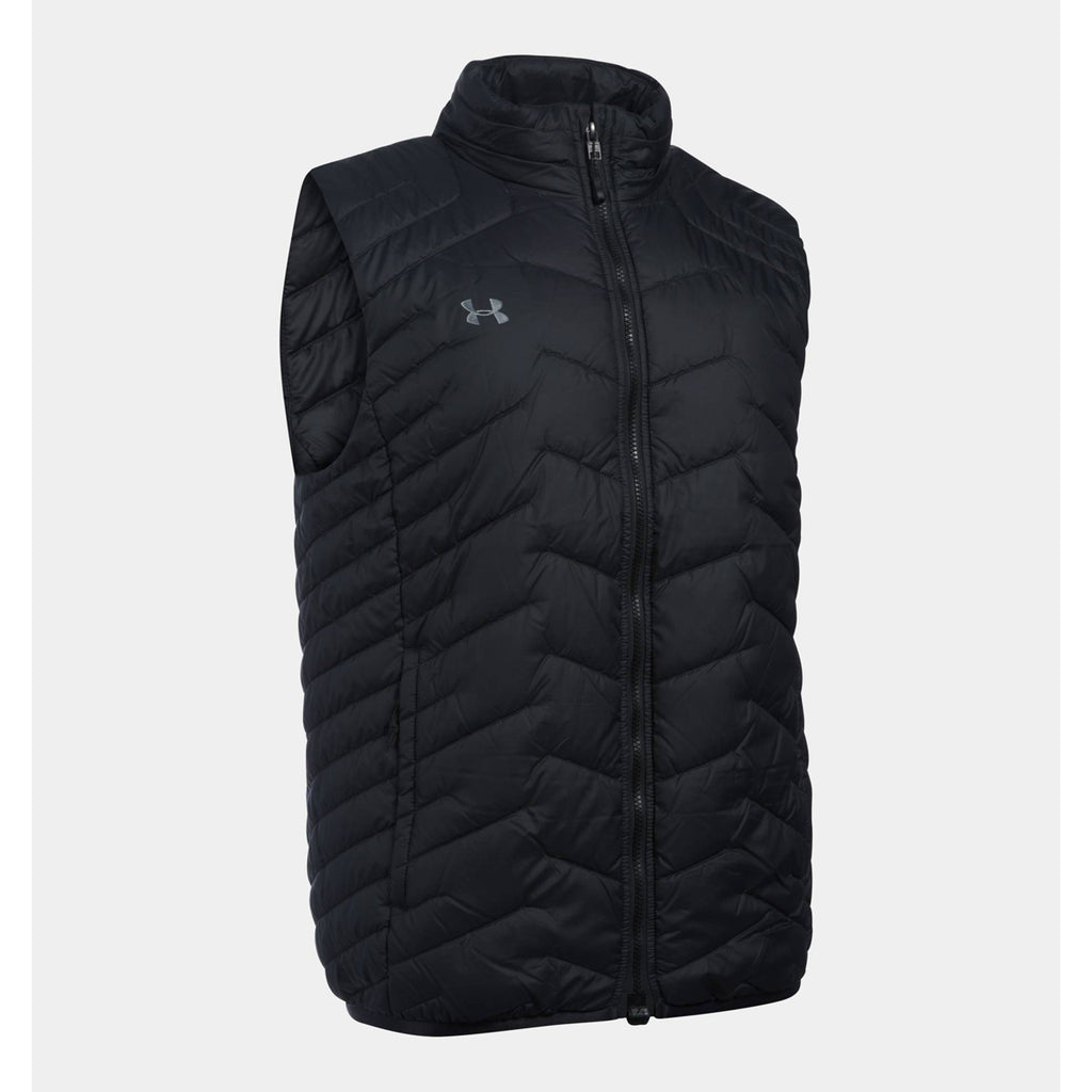 bf8c8369c Under Armour Men's Black UA Team Reactor Full Zip Vest