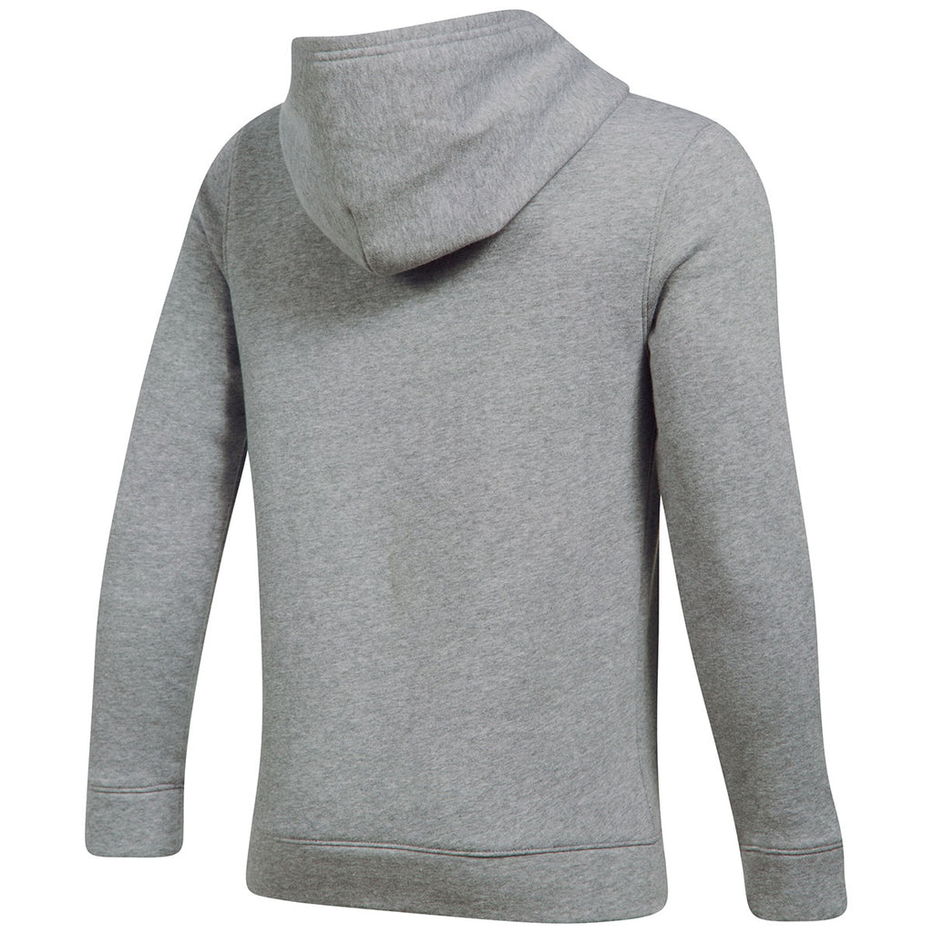 Under Armour Boy's True Grey Heather Hustle Fleece Hoodie