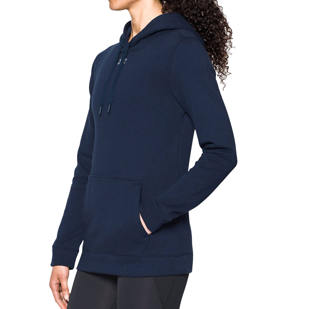 Under Armour Women's Midnight Navy Hustle Fleece Hoody