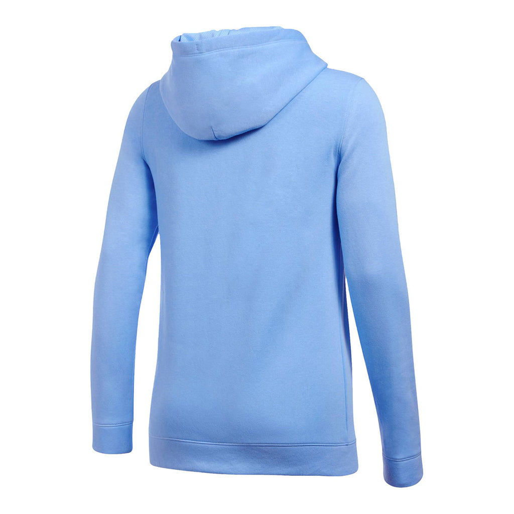 Under Armour Women's Carolina Blue Hustle Fleece Hoody