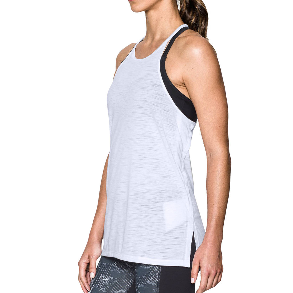 Under Armour Women's White Threadborne Fashion Tank