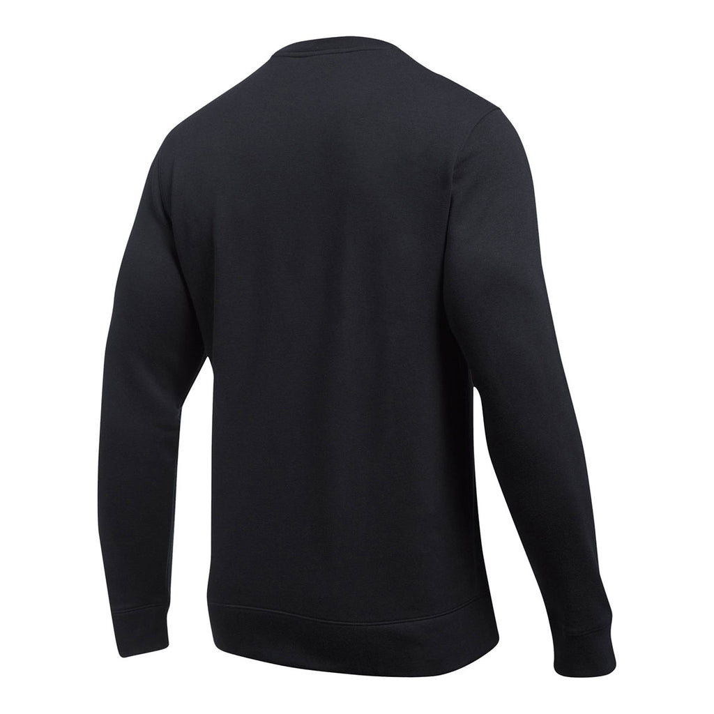 Under Armour Men's Black Hustle Fleece Crew Neck Sweatshirt
