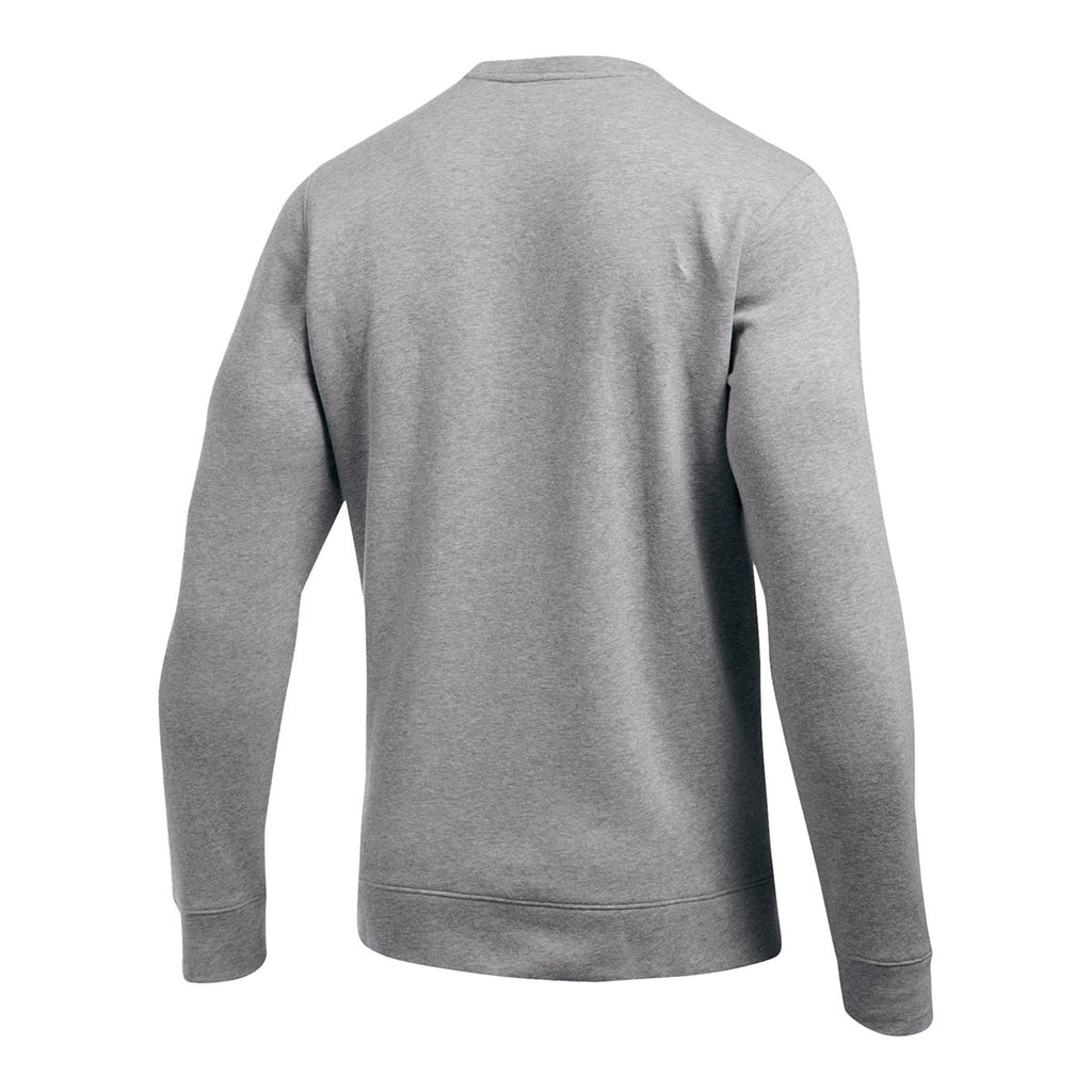 Under Armour Men's True Grey Heather Hustle Fleece Crew Neck Sweatshirt