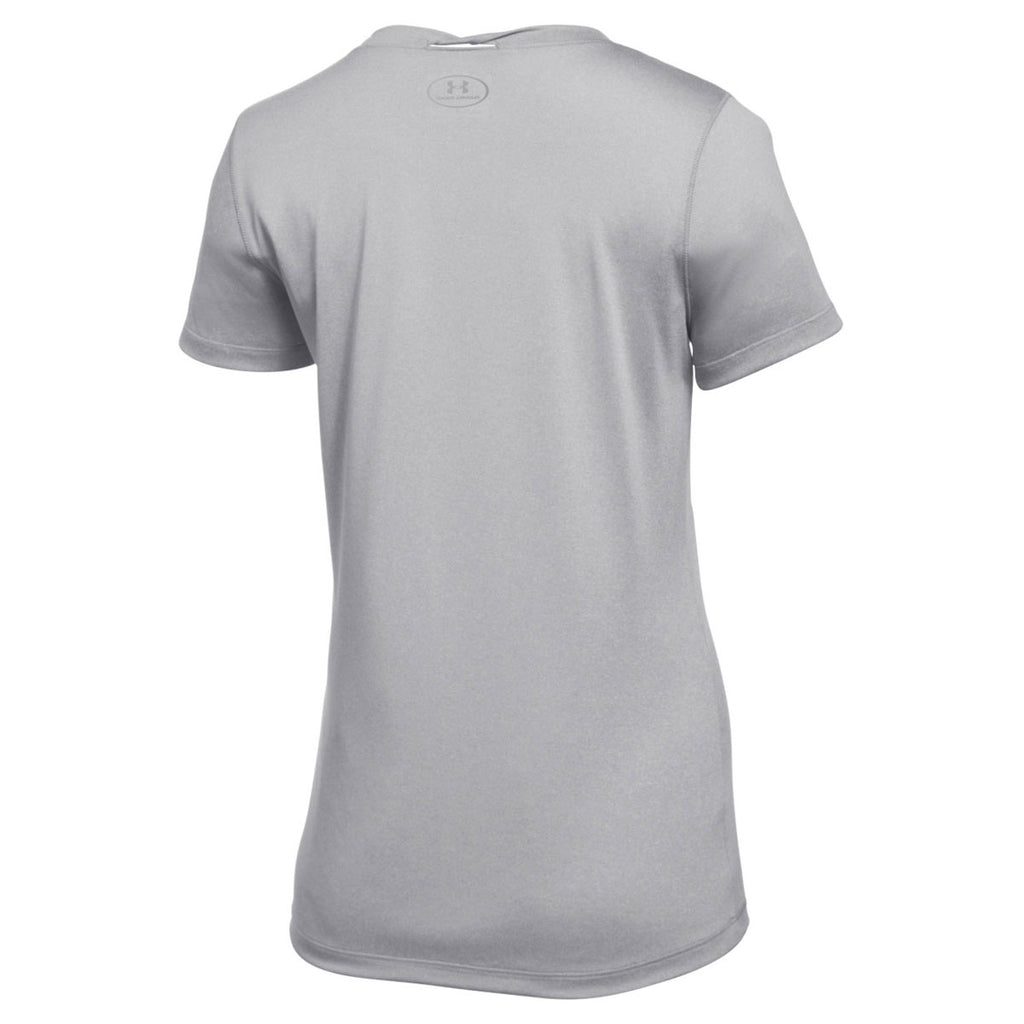 Under Armour Women's True Grey Heather 2.0 Locker Tee