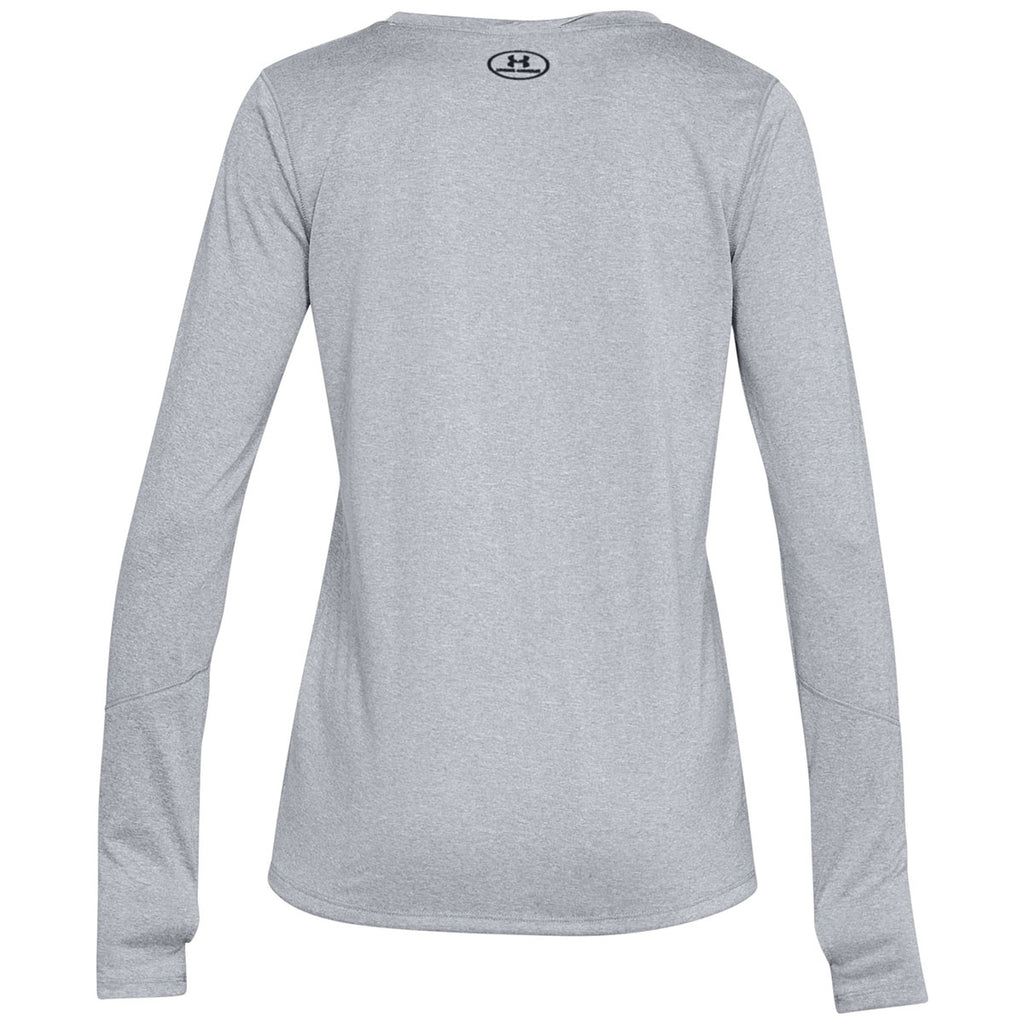 Under Armour Women's True Grey Heather Locker Tee Long Sleeve 2.0
