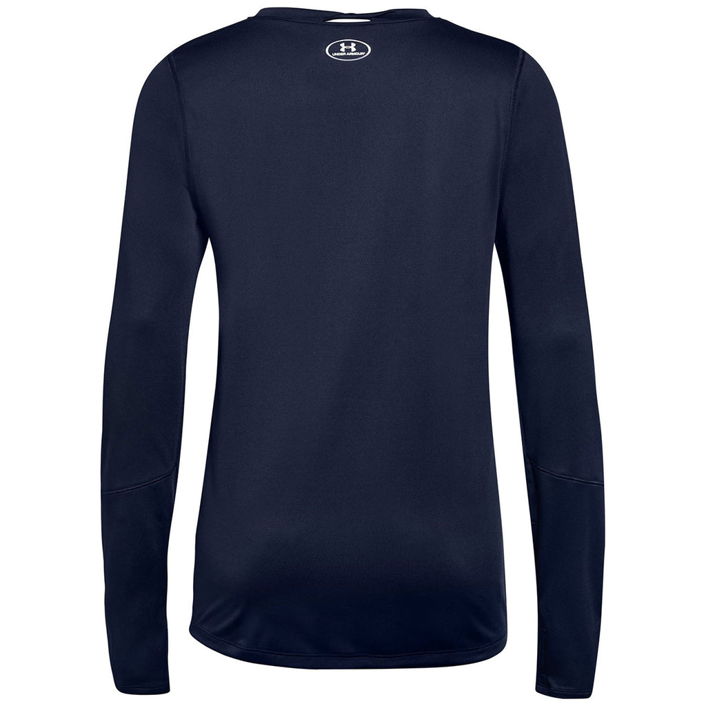 Under Armour Women's Midnight Navy Locker Tee Long Sleeve 2.0