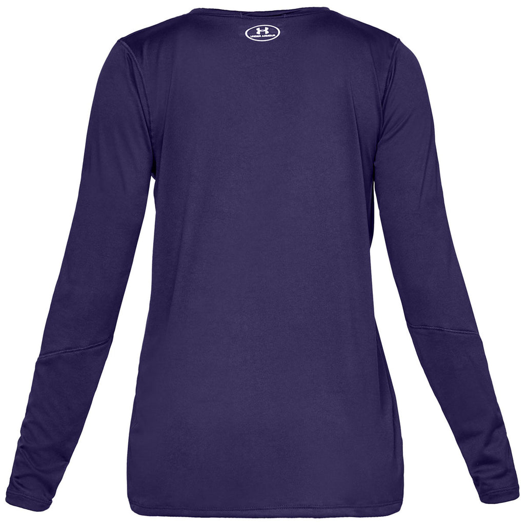 Under Armour Women's Purple Locker Tee Long Sleeve 2.0