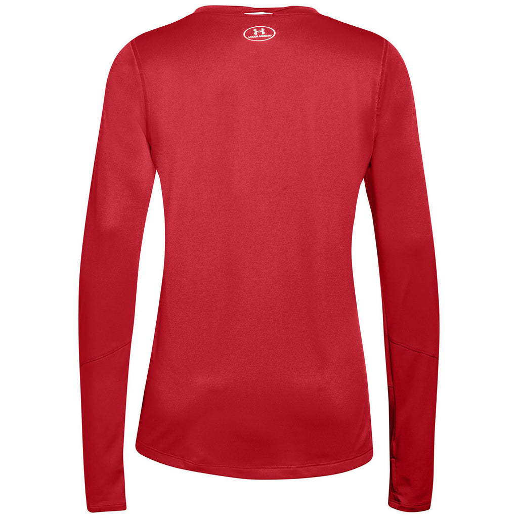 Under Armour Women's Red Locker Tee Long Sleeve 2.0