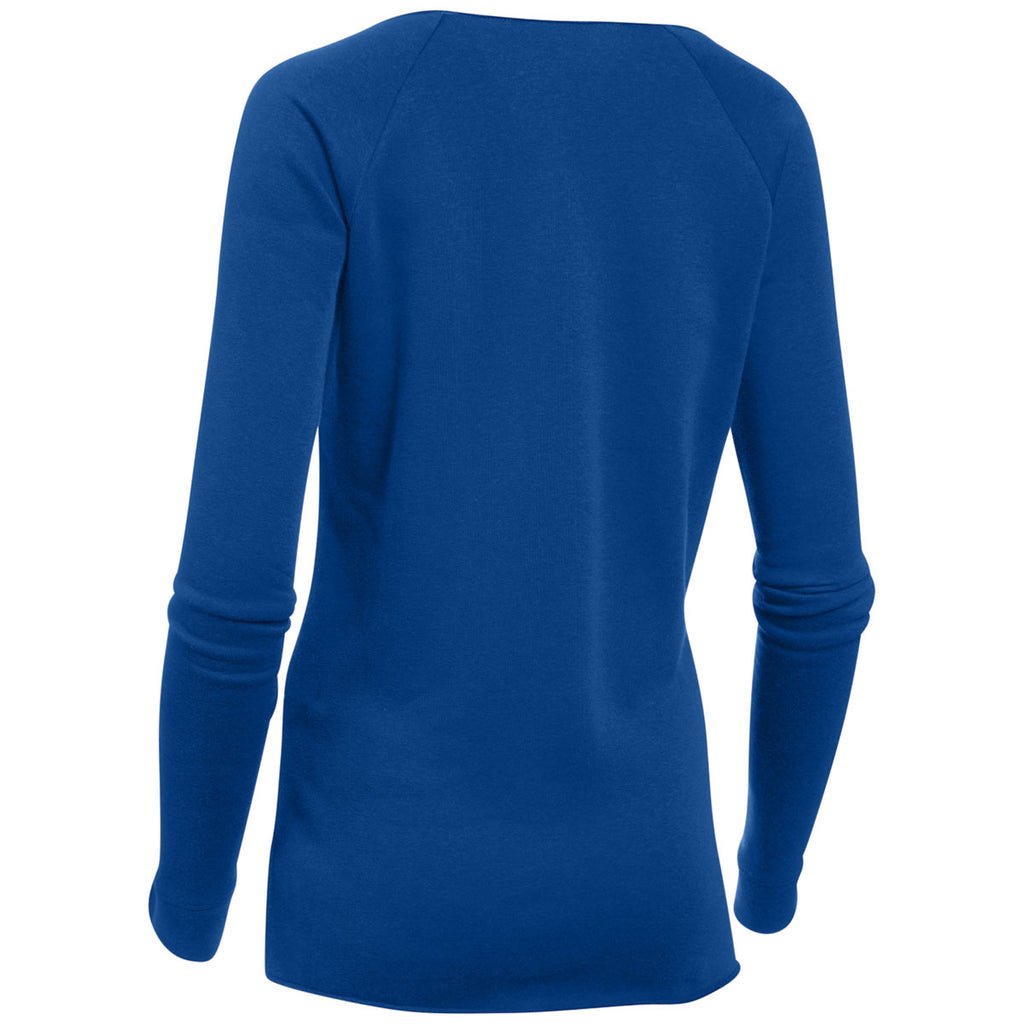 Under Armour Women's Royal Hustle Fleece Crew