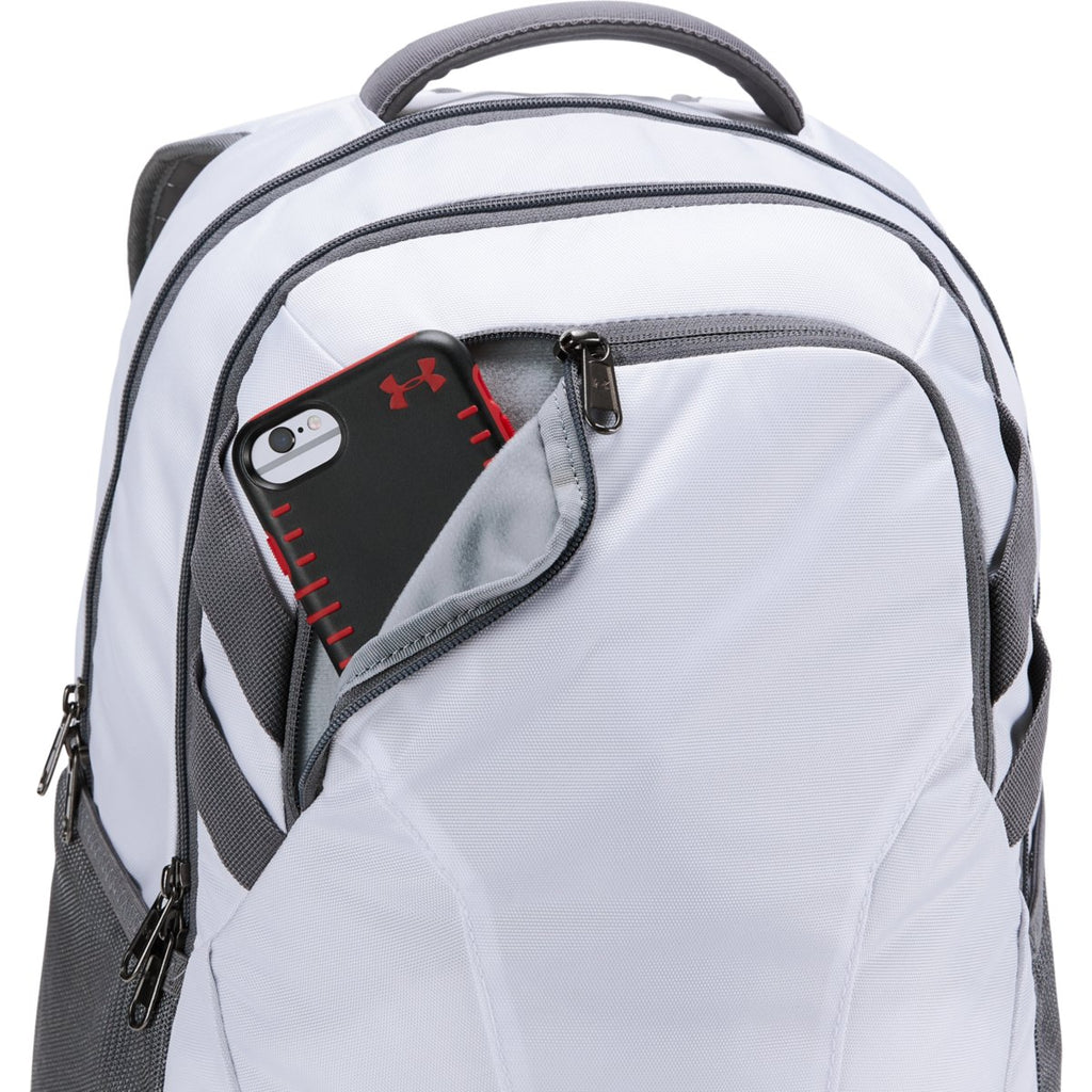 Under Armour White UA Team Hustle 3.0 Backpack
