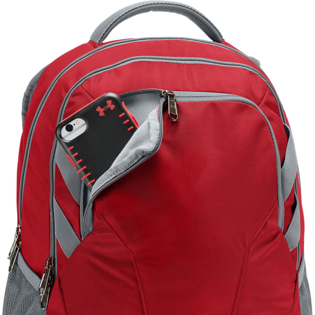 Under Armour Red UA Team Hustle 3.0 Backpack