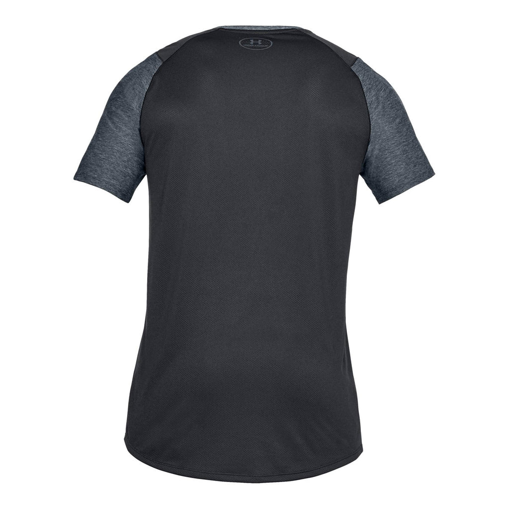 Under Armour Men's Black Heather MK1 Short Sleeve Shirt