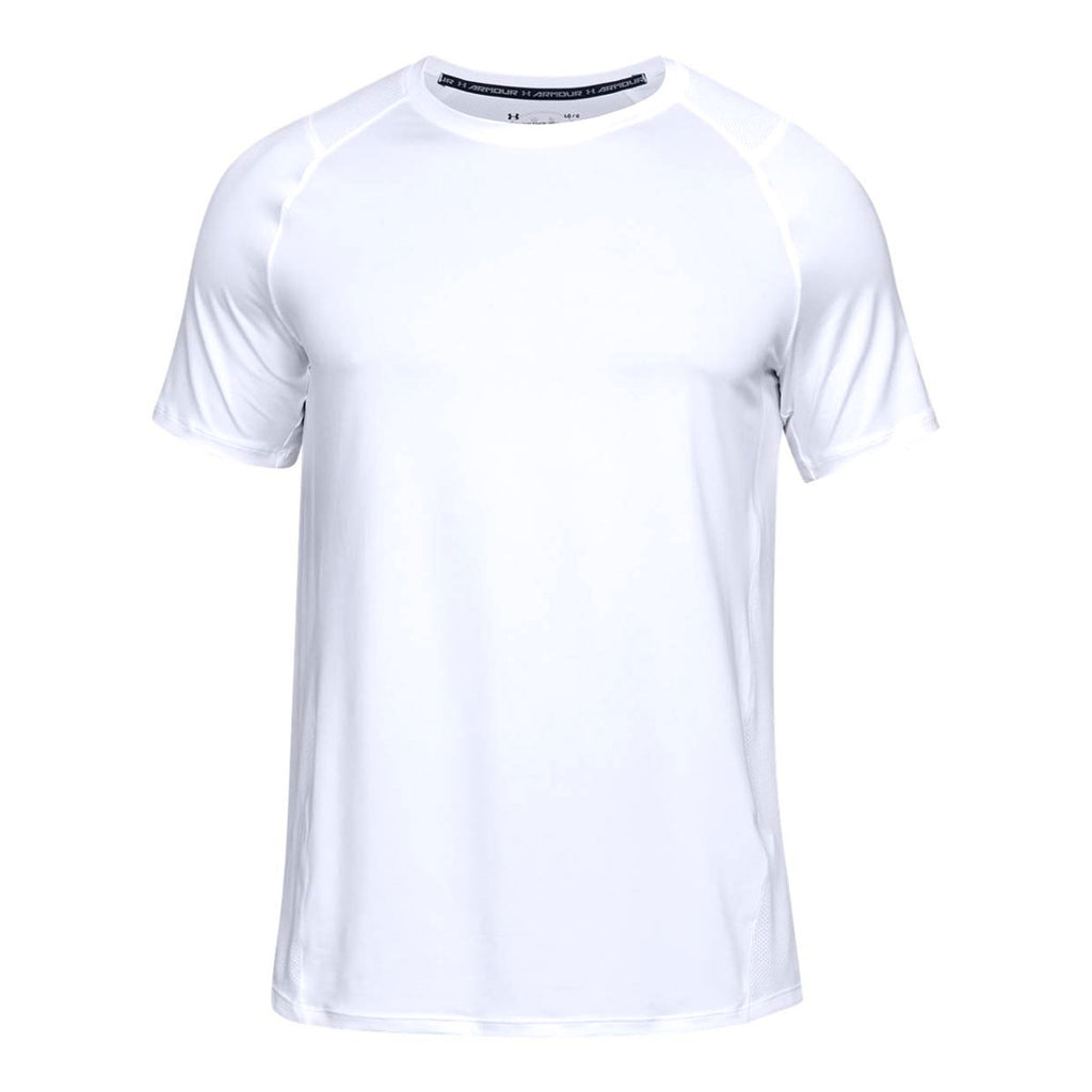 5287cf46a Under Armour Men's White MK1 Short Sleeve Shirt. ADD YOUR LOGO