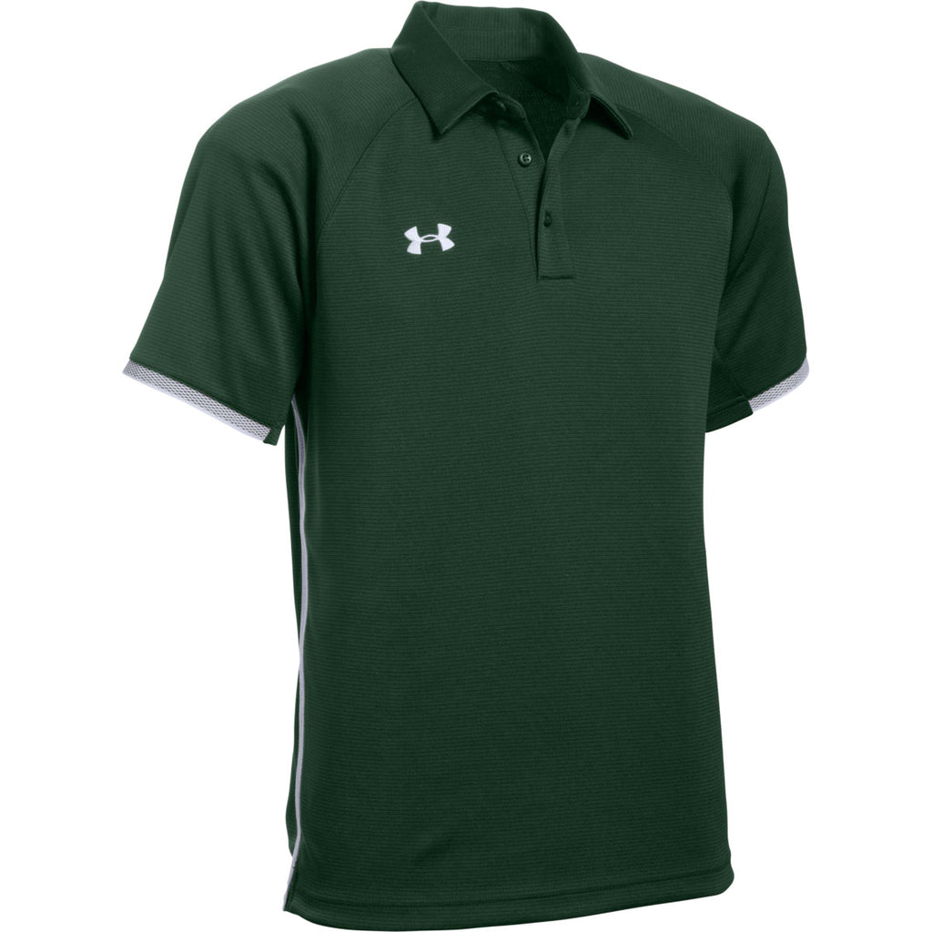 Under Armour Men's Forest Green Rival Polo